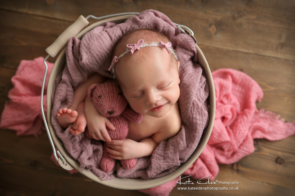 Newborn smile - Kate Eden Photography