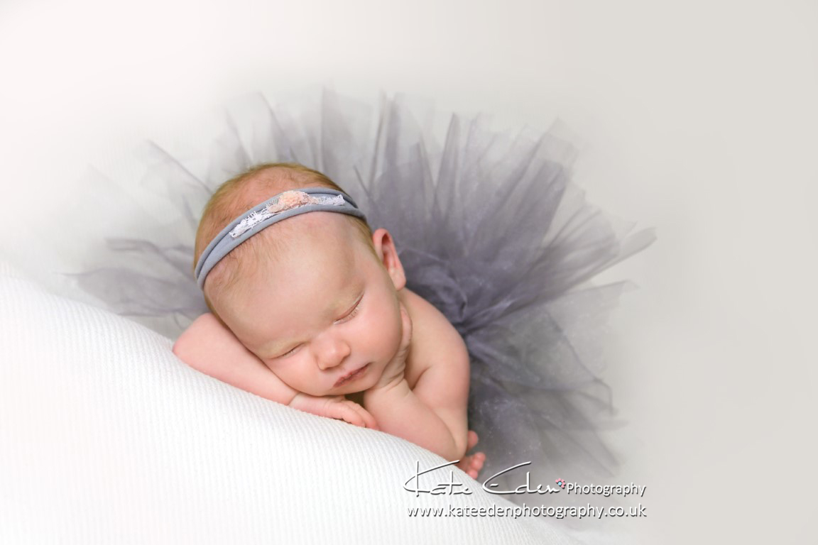 1-month-old baby girl - baby photographer Aberdeen