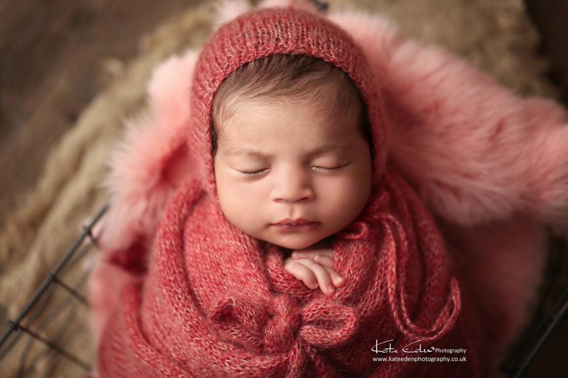 Baby girl newborn session in Milton Keynes - Kate Eden Photography