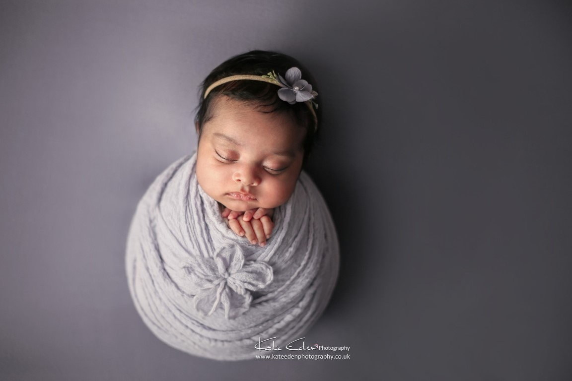 Flower wrap - Kate Eden Photography - Milton Keynes newborn photographer