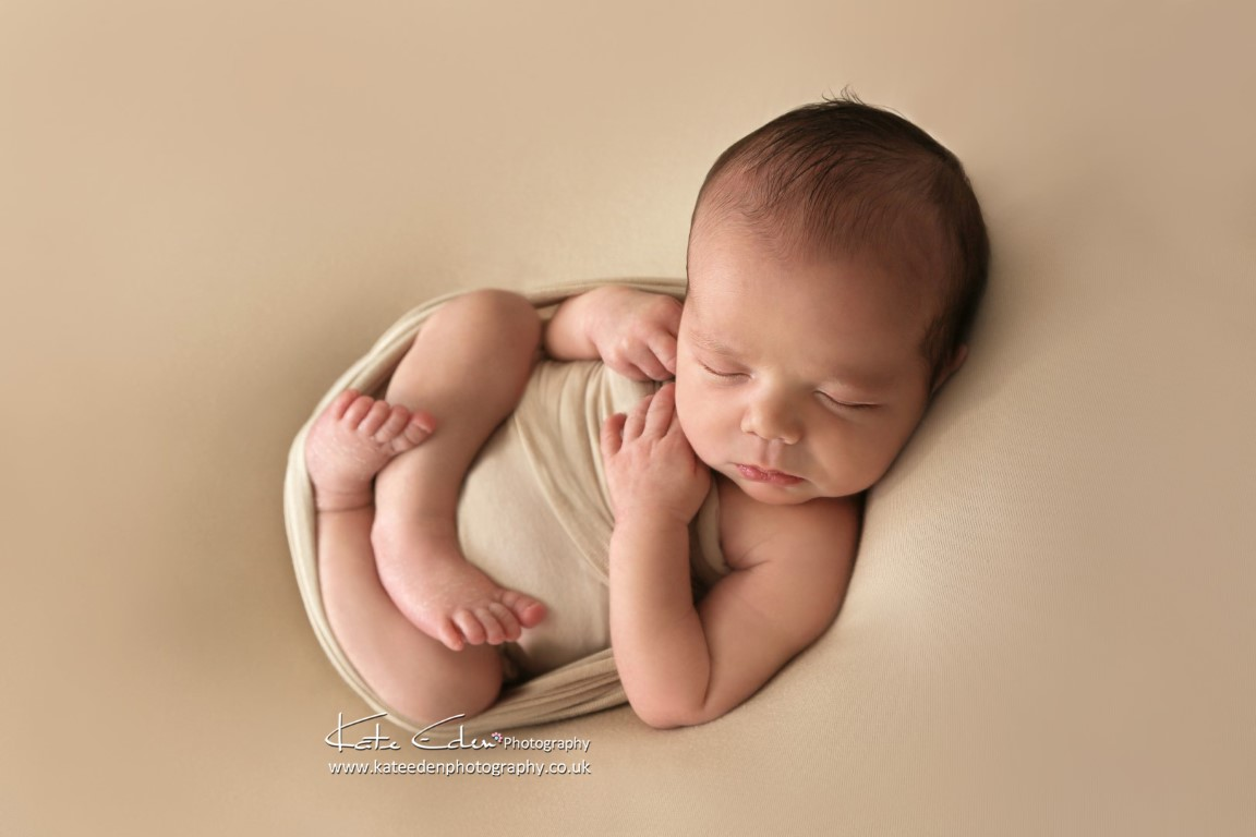 Newborn baby boy in the studio Kate Eden Photography
