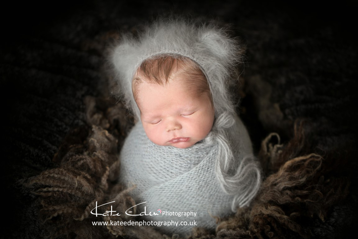 newborn baby boy - cute little bear - newborn photography Aberdeen UK