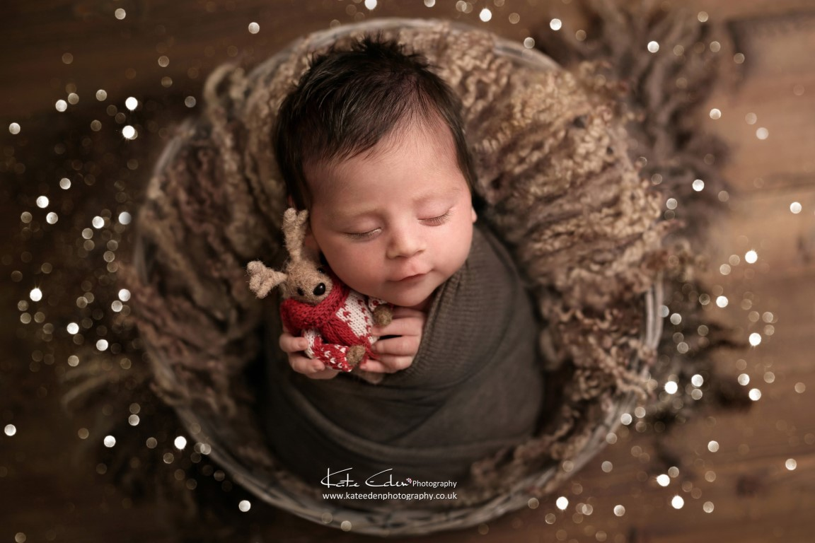 Christmas newborn baby - Kate Eden Photography - Milton Keynes newborn photographer