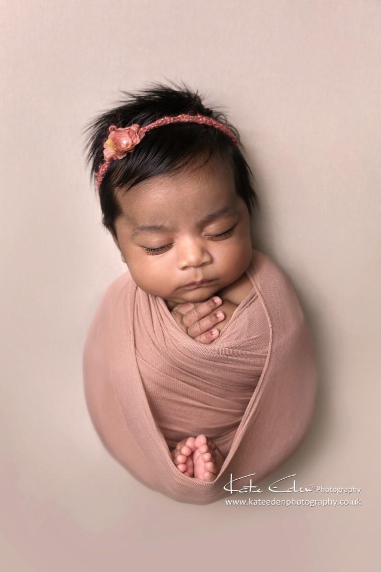 Such a beautiful newborn baby girl - Kate Eden Photography - Milton Keynes Newborn photographer