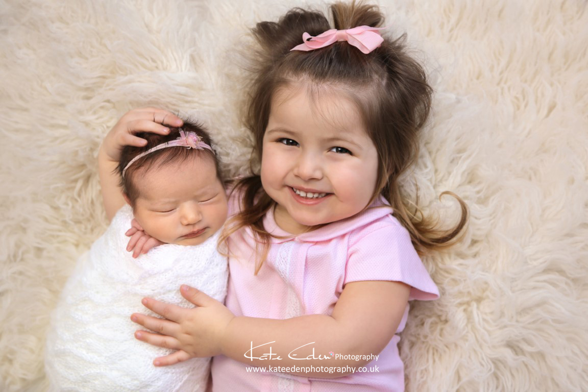 Sisters - newborn photography Aberdeen