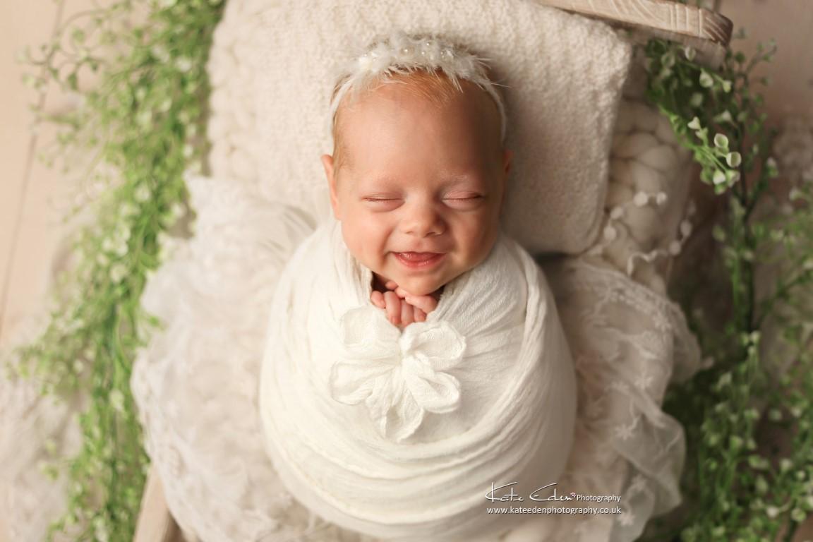 Newborn smile - Kate Eden Photography - Milton Keynes newborn photographer