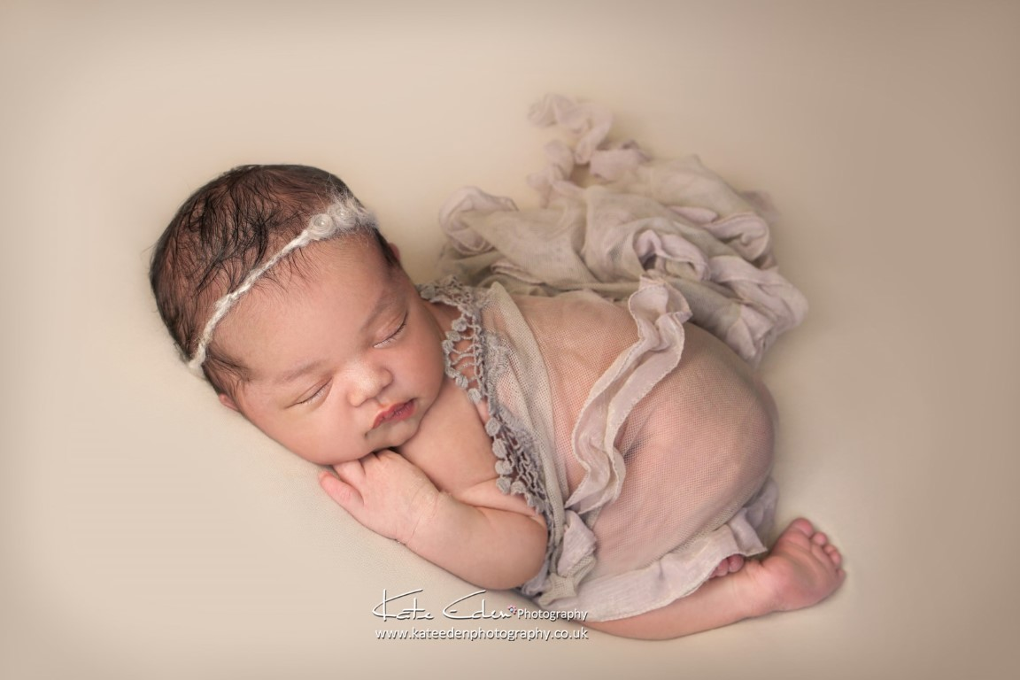 Adorable newborn baby girl - newborn photography Aberdeen - Kate Eden Photography