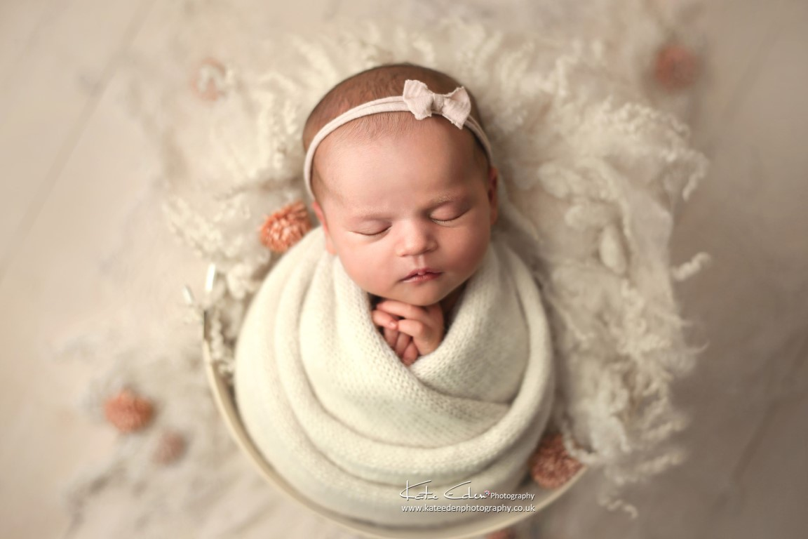 Creamy newborn photos - Kate Eden Photography - Milton Keynes Newborn Photographer
