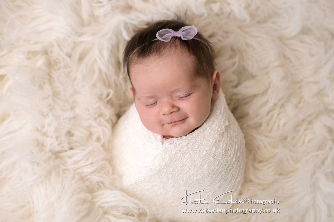 Smiling baby girl - Newborn Photography Aberdeen