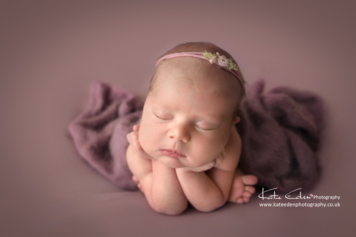 Froggy pose - Aberdeen newborn Photography