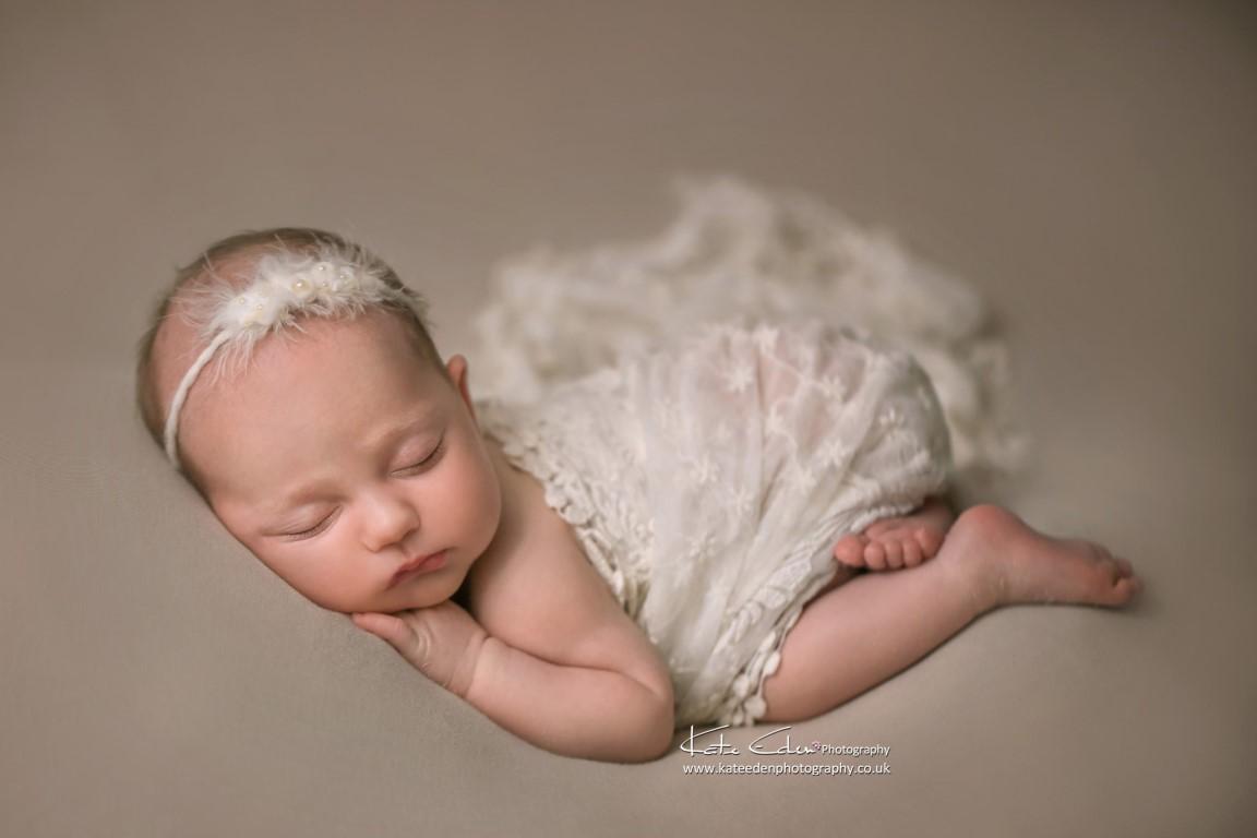 A sweet newborn baby girl - Newborn photographer Milton Keynes - Kate Eden Photography