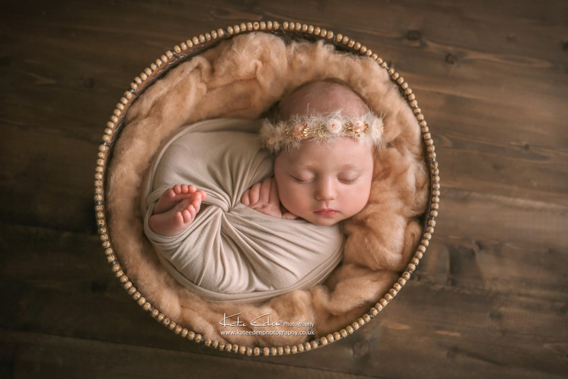 Pretty newborn baby girl - Kate Eden Photography - Milton Keynes