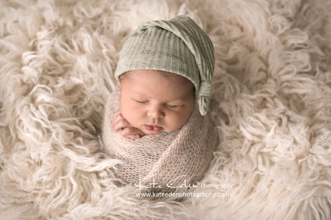 Newborn baby boy - potato pose