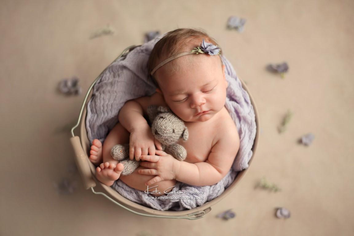 Newborn baby girl first photoshoot - Kate Eden Photography - Milton Keynes newborn photographer