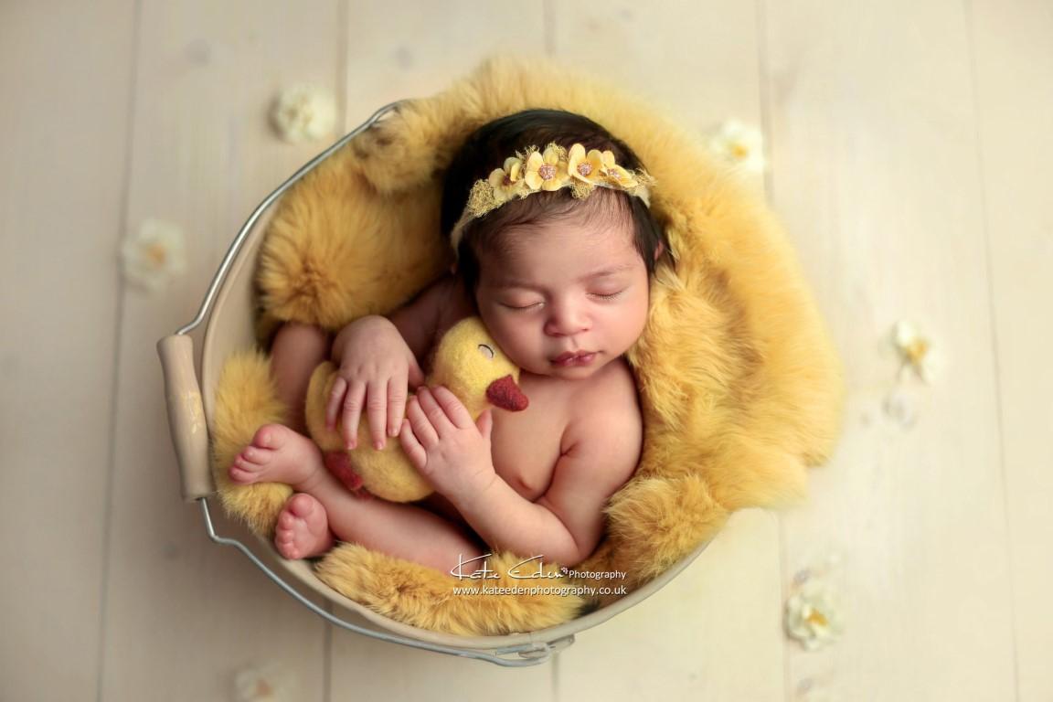Baby with ducky - Kate Eden Photography - Milton Keynes newborn photographer