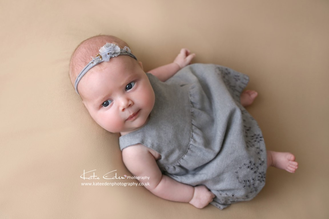 two months old baby girl - baby photographer Aberdeen