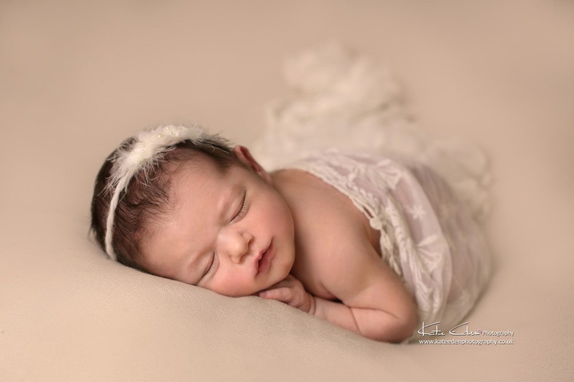Baby girl in neutral - Kate Eden Photography - Milton Keynes newborn photographer