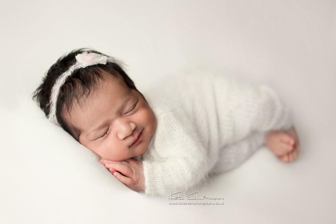 Cute newborn smile - Milton Keynes newborn photographer - Kate Eden Photography
