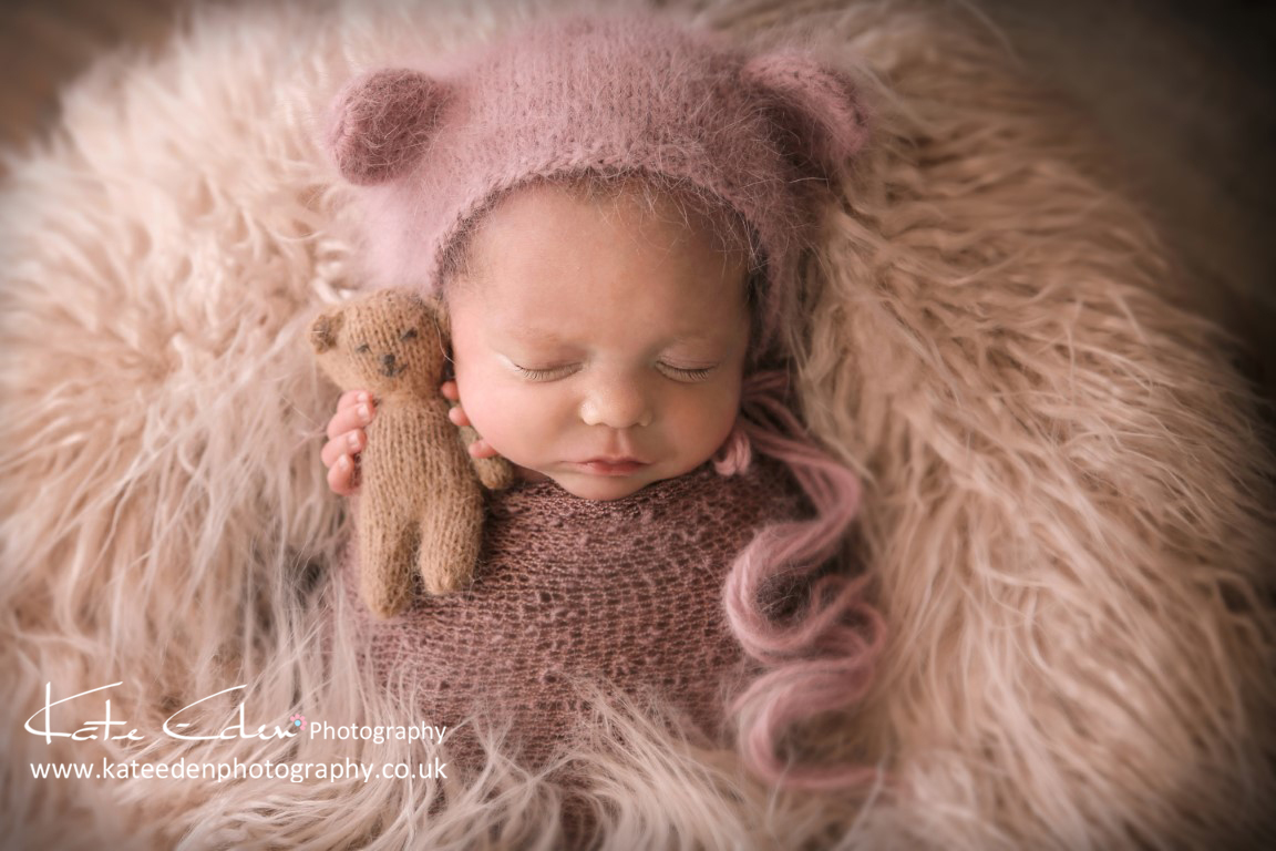 Baby Bear - newborn girl - Kate Eden Photography