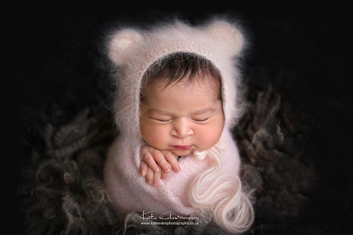 Baby bear newborn girl - Kate Eden Photography - Milton Keynes