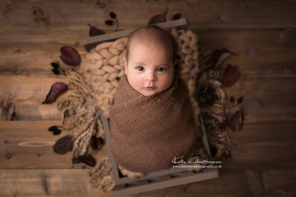 Autumn vibes - 2-months-old baby boy - Kate Eden Photography - Milton Keynes baby photographer