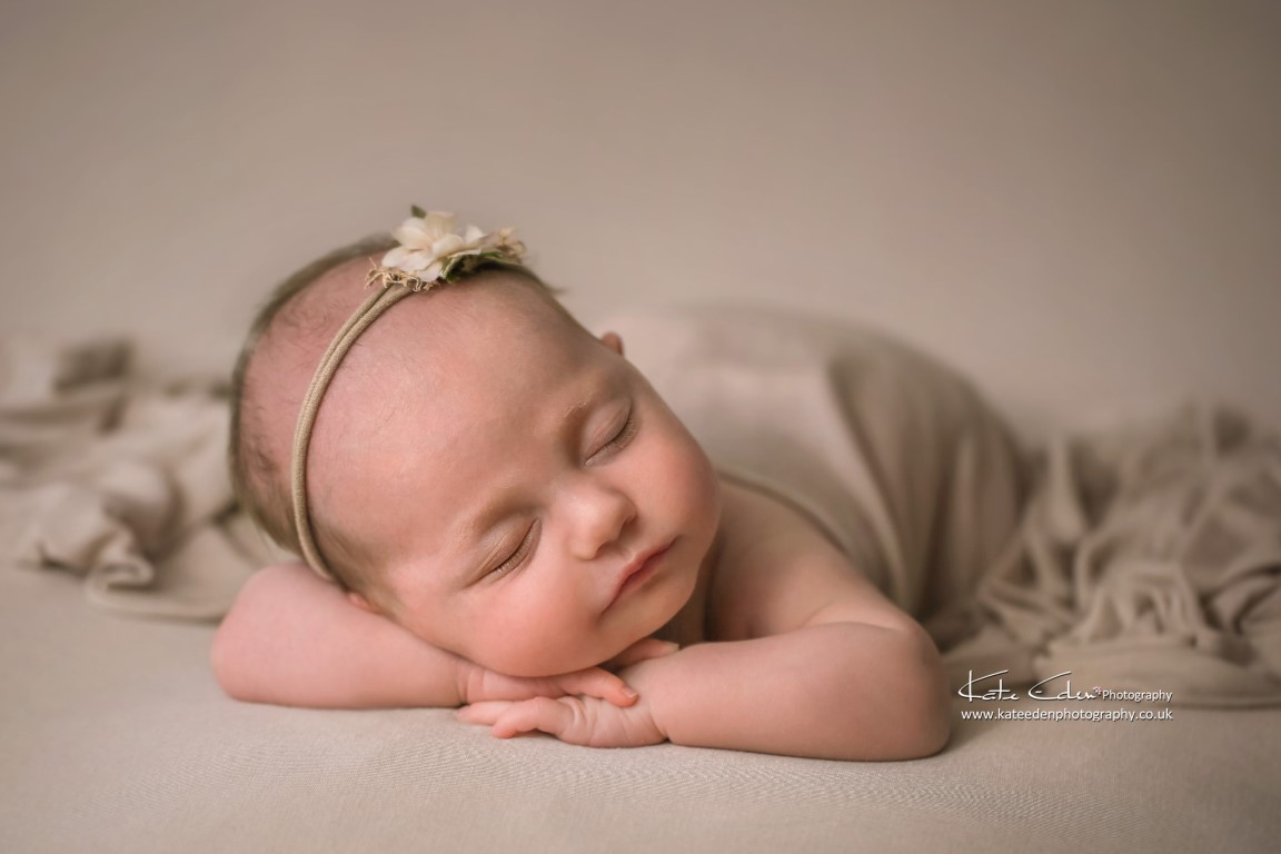 A lovely newborn baby girl - 4 weeks old - Kate Eden Photography - Baby photographer Milton Keynes