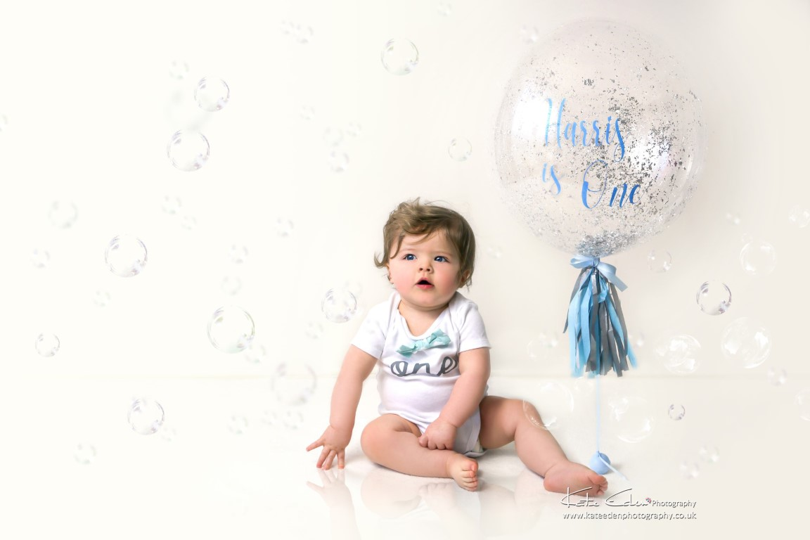 One-year-old baby boy - Kate Eden Photography