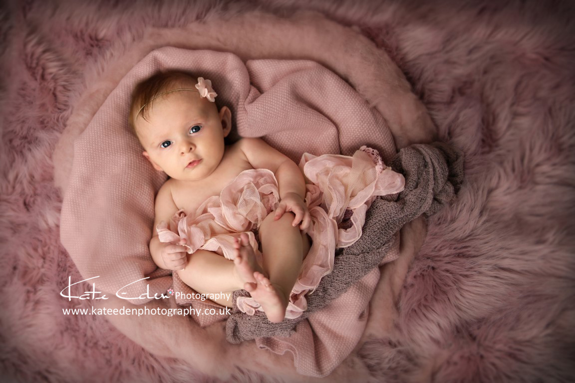 3 months old baby girl - baby photographer Aberdeen