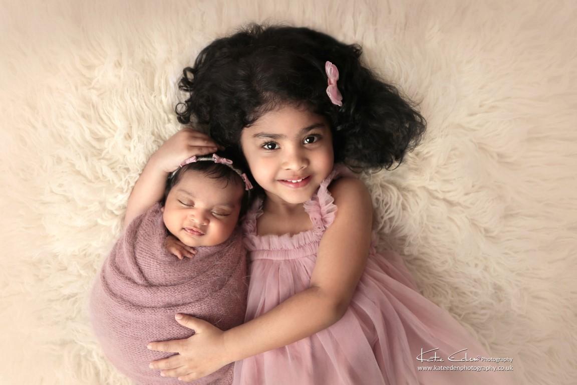 Sisters - Kate Eden Photography - Newborn photographer Milton Keynes